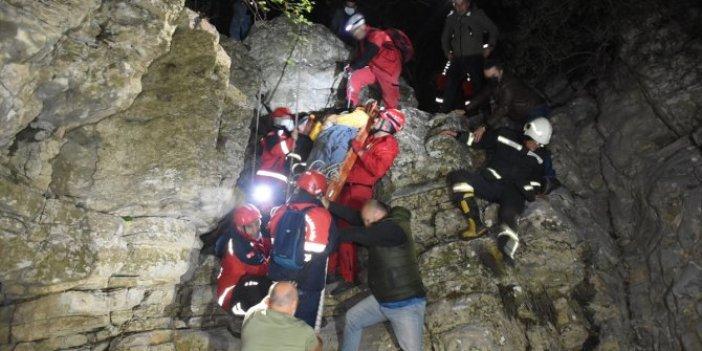 Kayalıklara düşen iş insanı Ahmet Azmi Zırh 8 saat sonra kurtarıldı