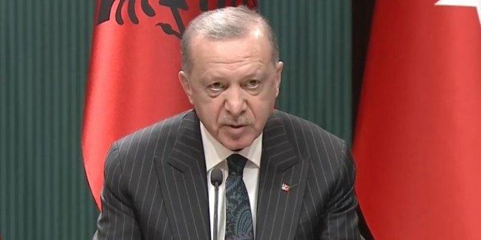Erdoğan ve Rama'dan ortak basın açıklaması