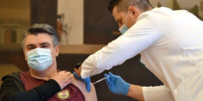 Hırvatistan Cumhurbaşkanı Milanovic korona aşısı yaptırdı