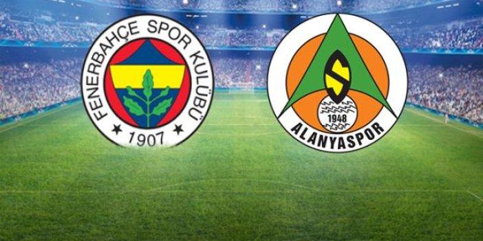 Süper Lig'in zirvesini ilgilendiren Fenerbahçe- Alanyaspor maçı nefes kesti