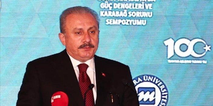 TBMM Başkanı Şentop: Ermenistan, Rusya ve Türkiye'yi çatışmanın içine çekmek istedi
