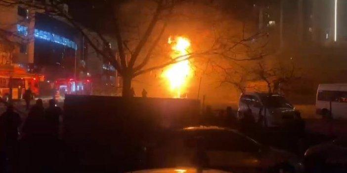 İstanbul Bahçelievler'de trafo alev alev yandı