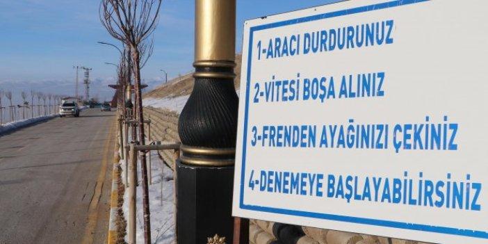 Erzurum'daki gizemli yolun sırrı ortaya çıktı. Arabalar bu yolda kendiliğinden gidiyor