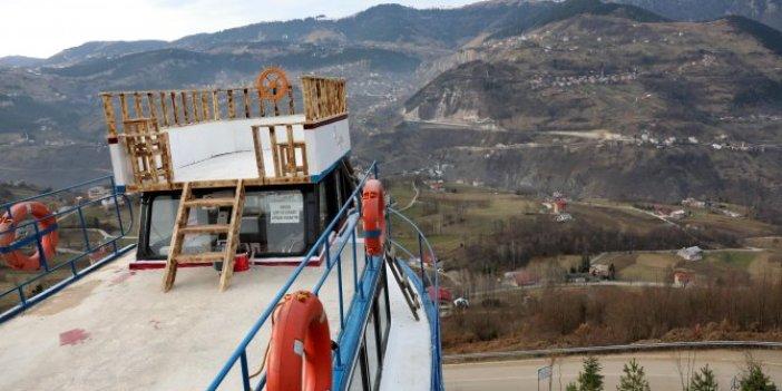Trabzon'da balıkçı teknesini dağa çıkarttı. Nedeni sonradan ortaya çıktı