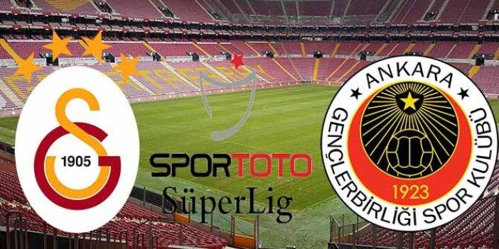 Galatasaray Gençlerbirliği'ne 6 gol attı