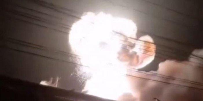 Batarya fabrikasında kulakları sağır eden patlama