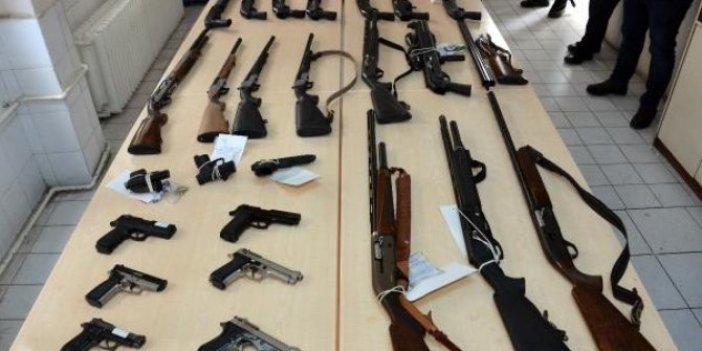 Kahramanmaraş'ta Emniyet Müdürlüğü 109 kişiyi silahlarıyla birlikte yakaladı