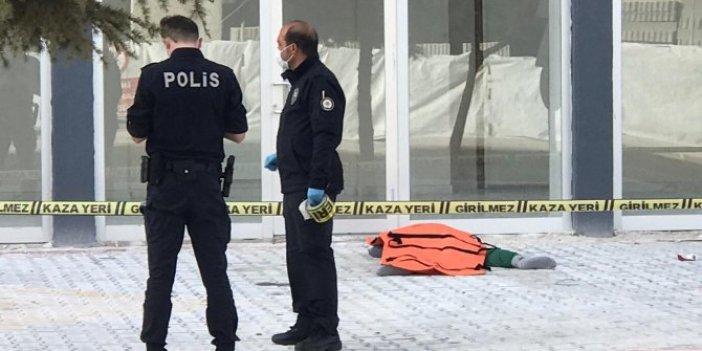 Konya feci olay. 7'nci kattaki evinin penceresinden düştü