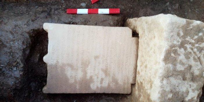 Muğla'da Roma Dönemi'ne ait mezar taşı bulundu