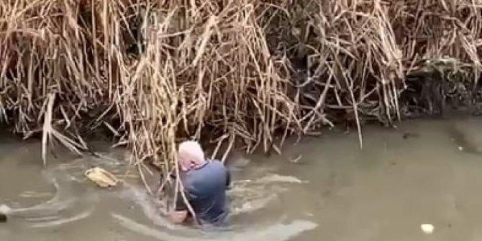 Amasya'da derenin içinde gördü üzerine anında balıklama atladı. Görenler kendinden geçti