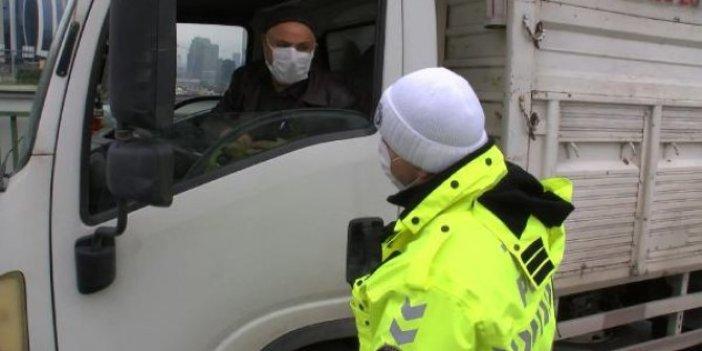 İstanbul'da kış lastiği denetimi yapıyorlardı. Sürücünün cevabı polisleri şok etti