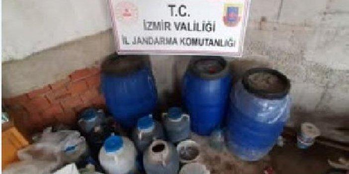 İzmir'de evini sahte içki imalathanesine dönüştüren adama baskın