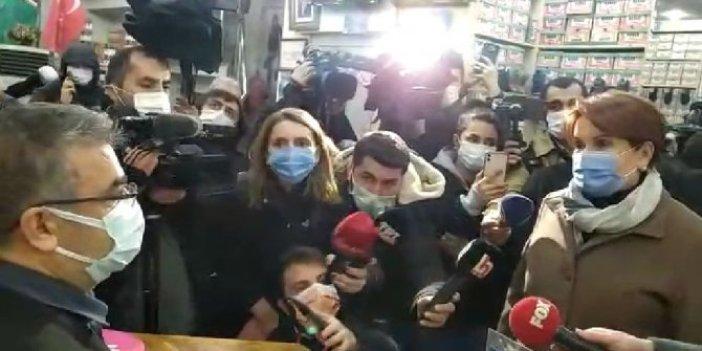 """İYİ Parti lideri Meral Akşener'in esnaf ziyaretinde ortaya çıktı: """"Karaborsadan ilaç alıyorum"""""""