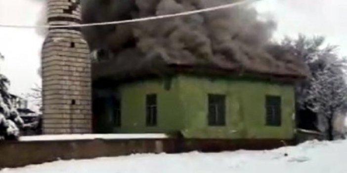Kahramanmaraş'ta Mahmutbey Camisi'nde yangın çıktı