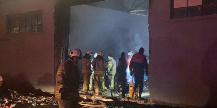 Maltepe'de depoda korkutan yangın
