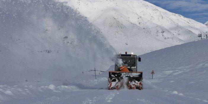 Tunceli'de kar küreme çalışmaları devam ediyor