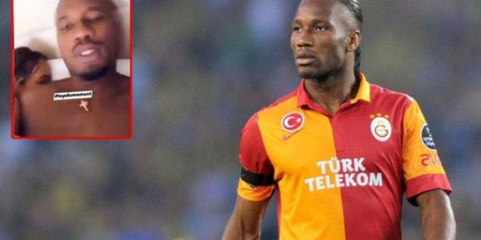 Galatasaray'ın eski yıldızı Drogba topu taşa vurdu. Isırık çığlığı