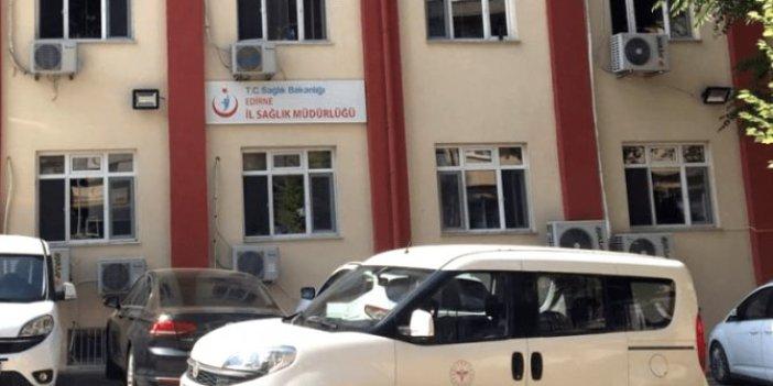 """Edirne Sağlık Müdürlüğünden """"hastanede rüşvet"""" iddiasına ilişkin açıklama"""