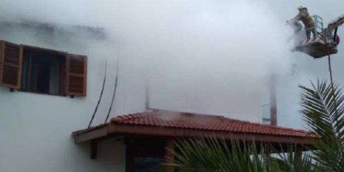 İzmir Urla'da evde yangın