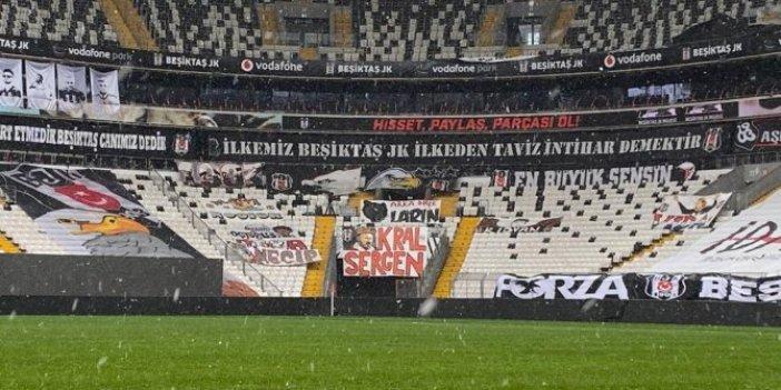 Beşiktaş - Galatasaray derbisine saatler kala Vodafone Park zemini böyle görüntülendi