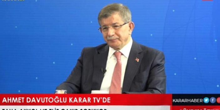 Erdoğan yol ayrımında diyerek uyardı. Ahmet Davutoğlu'ndan flaş iddia
