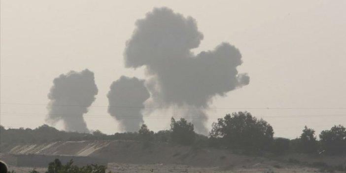 İsrail'in yaptığı hava saldırısından yeni görüntüler