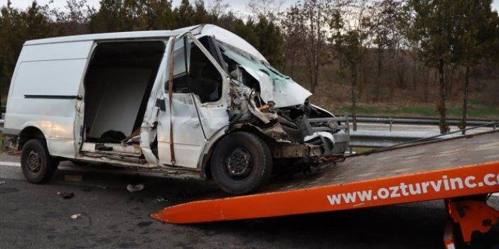 Kırklareli'nde sığınmacı taşıyıp kazaya karışan sürücüye ceza yağmuru