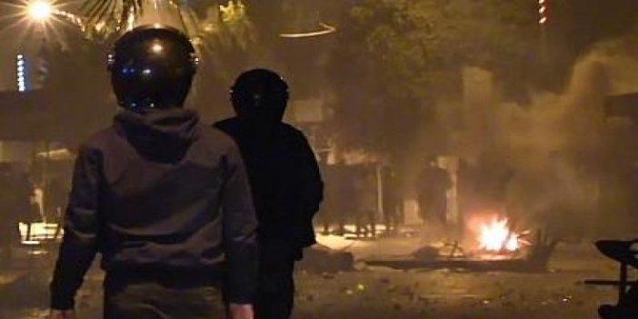 Tunus'ta sokağa çıkma yasağı protestosu