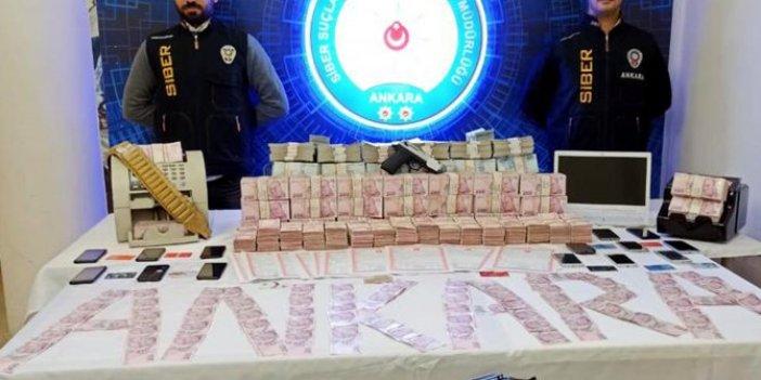 Ankara merkezli 4 ilde yasa dışı bahisçilere şafak baskını. Polis valizler dolusu para yakaladı. Altınları saya saya bitiremediler