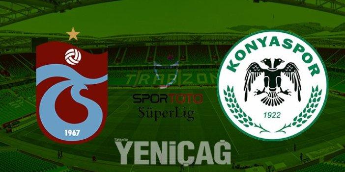 Trabzonspor ve Konyaspor arasında nefes kesen maç