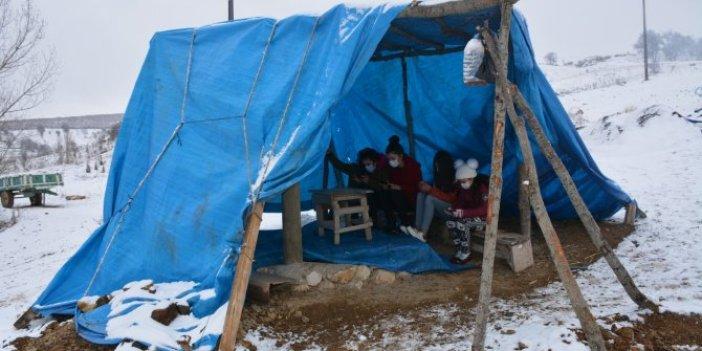 Ankara'nın yanı başındaki ilde dağda eğitim. Milli Eğitim Bakanı bu çocukları görecek mi
