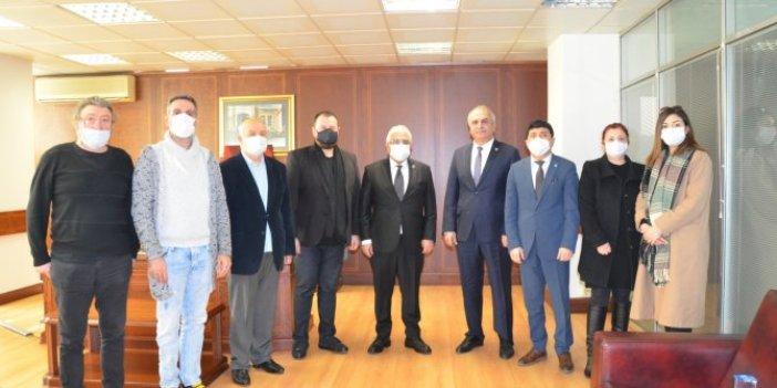 İYİ Parti'li Karaman'dan Yeniçağ'a ziyaret