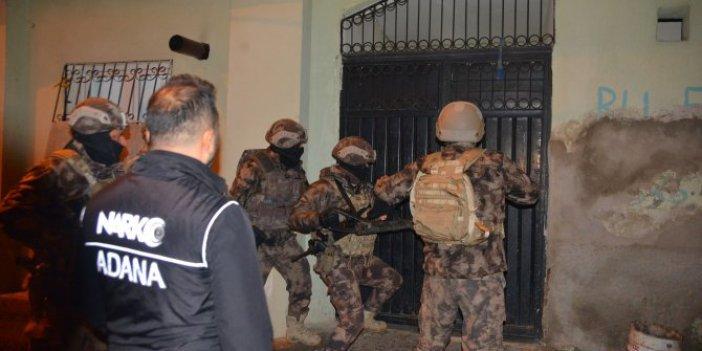 Adana'da uyuşturucu satıcılarına büyük operasyon