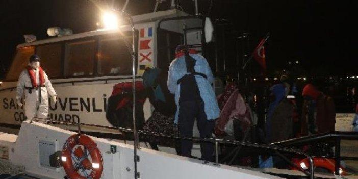 Ayvalık açıklarında sürüklenen botta 38 kişi kurtarıldı