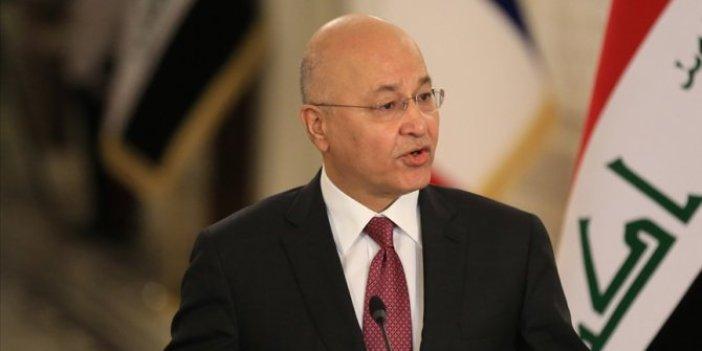 Irak Cumhurbaşkanı Salih'ten saldırı açıklaması: Bağdat'taki patlama halkın barış ve geleceğini hedef aldı