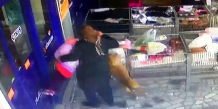 Ankara'da 2.5 yaşındaki çocuk dehşeti yaşadı. Pitbull hamle yaptı görenler sopalarla saldırdı