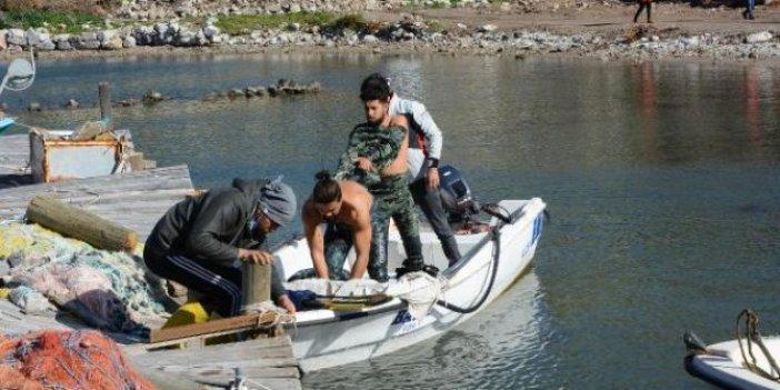 Datça'da tekne battı. Annesi gözyaşlarına boğuldu