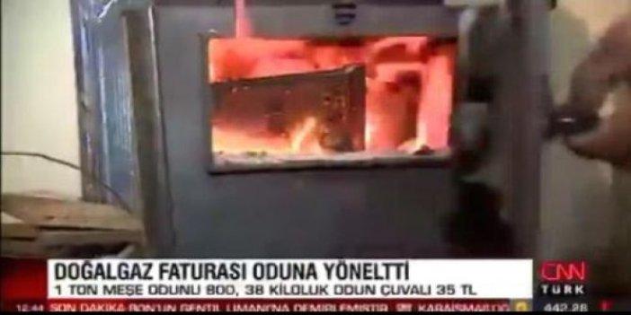 CNN Türk'ün haberi iktidarı kızdıracak. Doğalgaz faturasını ödeyemeyen vatandaş çareyi sobada buldu