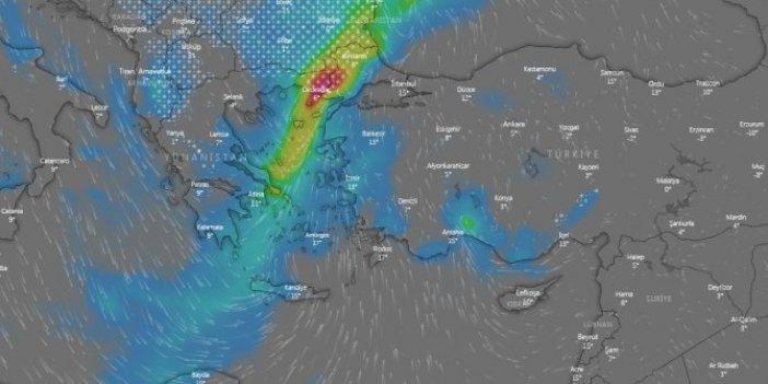 Karın istanbul'u vuracağı tarih belli oldu. 315 derece karayelden gelecek. İlk önce Edirne perişan olacak