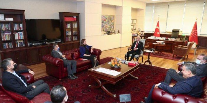 Kılıçdaroğlu DİSK Başkanı Çerkezoğlu ile görüştü
