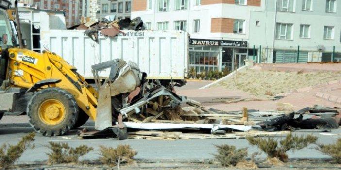 Kayseri'de vatandaşlar canını zor kurtardı