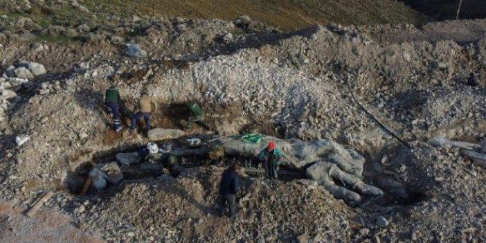 Kazı yaparken kazma saplandı kaldı. Yunanlı arkeologların önüne bir anda çıktı