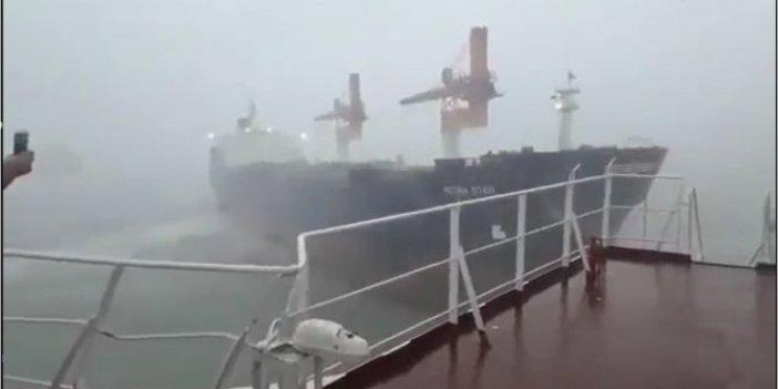 Karaya oturan geminin büyük suçu ortaya çıktı. Türk gemisinin 'Köprüsüne' sancaktan böyle vurmuş