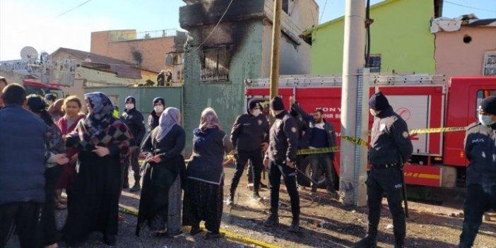 Konya'da yangın faciası. Anne öldü Okay ve dayısı kurtarıldı. Yürekleri parçalayan fotoğraf