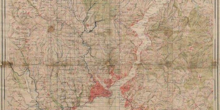 Kırmızı alanlar yerleşim yerleri peki içilebilir 69 dereyi bulabilir misiniz. Bir zamanların İstanbul haritası