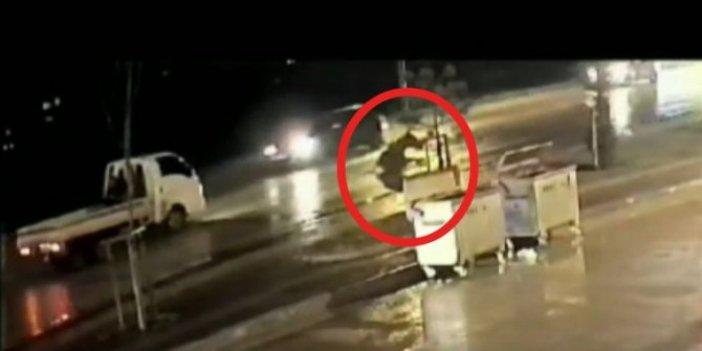 Bursa'da araç çarptı at havalandı