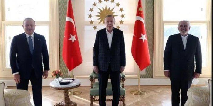 Cumhurbaşkanı Erdoğan İran Dışişleri Bakanı Cevat Zarif'i kabul etti