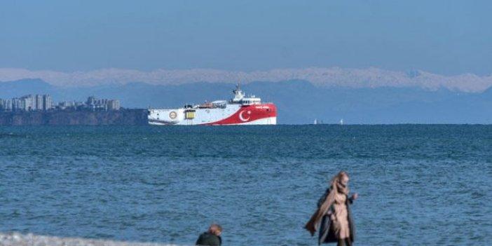 Oruç Reis Antalya açıklarında demirledi
