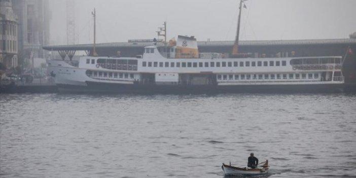 İstanbul'da bazı vapur seferlerine fırtına engeli