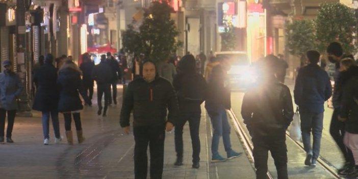Sokağa çıkma yasağıyla birlikte İstiklal Caddesi turistlere kaldı